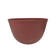 Lotus 14 x 11cm Red Plastic Pot