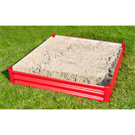 My First Garden 1150 x 1150 x 210mm Red My First Sandpit