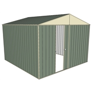 Build-a-Shed 3.0 x 3.0 x 2.3m Gable No Side Doors Shed - Green