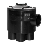 K-Rain 4000 Series Indexing 6 Outlet Valve Cammed For 4 Zone Operation