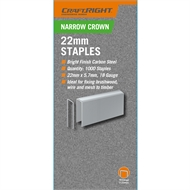 Craftright 28mm Narrow Crown Staples - 1000 Pack