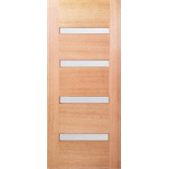 Woodcraft Doors 2040 x 820 x 40mm St Clair Frosted Glass Entrance Door
