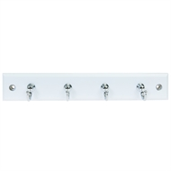 MODE 4 Chrome Hooks White Board Key Rack