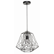 Brilliant 38.5cm 60W Black Matrix Pendant Light