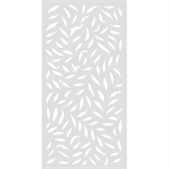 Protector Aluminium 1200 x 2400mm ACP Large Leaf Decorative Panel Unframed - Gloss White
