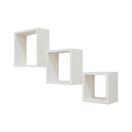 Flexi Storage White Wall Mount Clever Cubed Storage Unit