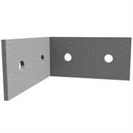 Dunnings 130 x 130 x 65 x 5mm M12 Galvanised Angle Bracket