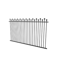 Protector Aluminium 2450 x 1250mm Hi-Low Spear Top Pool Fence Panel