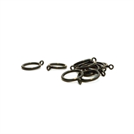 Windoware 29mm Curtain Rod Rippleblack Rings - 10 Pack