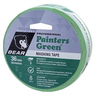 Bear 36mm x 50m Painters Green Masking Tape