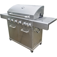 Jumbuck 6 Burner Hooded Comet BBQ with Side Burner