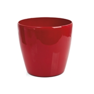 Eden 18cm Premium Cache Red Self Watering Plastic Pot