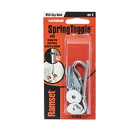 Ramset Spring Toggle With Round Cup Hook - 2 Pack