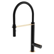 Mondella WELS 6 Star 4.5L/min Matte Black And Rose Gold Signature Vege Spray Sink Mixer