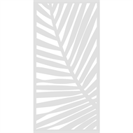 Protector Aluminium 600 x 900mm Palm Decorative Panel Unframed - Gloss White