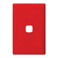 HPM LINEA 1 Gang Coverplate - Saucy Red