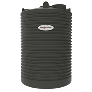 Polymaster 2250L Tall Round Corrugated Poly Water Tank - Slate Grey