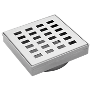 Mondella 100mm Rococo Stainless Steel Square Floor Grate