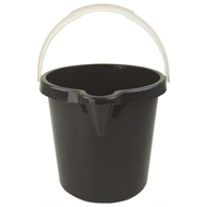 HomeLeisure 11L Charcoal Trend Bucket - With Lid