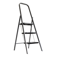 Syneco 100kg 3 Step Steel Household Folding Step Ladder