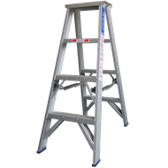 Indalex 1.2m 180kg Aluminium Double Sided Step Ladder
