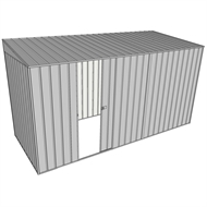 Build-a-Shed 1.5 x 3.7 x 2m Single Sliding Side Door Skillion Shed - Zinc