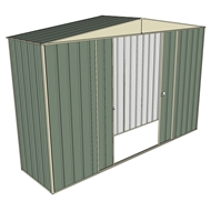 Build-a-Shed 3.0 x 0.8 x 2.3m Double Sliding Door Shed - Green