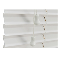 Zone Interiors 180 x 210cm 63mm Vivid White Basswood Shutterview Venetian Blind