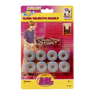 TIC 25mm Slide Glides With Screws - 8 Pack