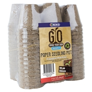 REKO GYO 55mm Paper Grow Your Own Seedling Pot - 90 Pack