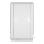 Bistro Blinds 180 x 240cm White and Clear PVC Outdoor Blind