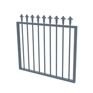 Protector Aluminium 975 x 900mm J Spear Top Garden Gate - To Suit Gudgeon Hinges - Deep Ocean