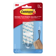 Command 1.8kg Large Clear Hook - 1 Pack