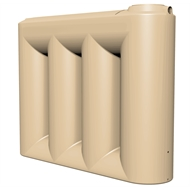 NextGenRoto 3000L Polyethylene Slim Water Tank - Wheat