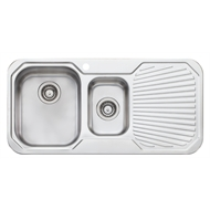 Oliveri 980mm 1.5 Left Hand Bowl Petite Sink With 1 Tap Hole
