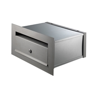 Sandleford Stainless Steel Hinged Brick In Mailbox