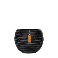 Capi 17 x 14cm Black Row III Ball Vase
