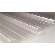 Suntuf Trimdek 1.0 x 2.4m Metallic Ice Polycarbonate Roofing