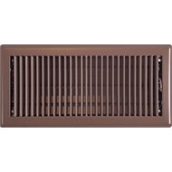 Accord 15 x 35cm Chocolate Metal Louvered Floor Register