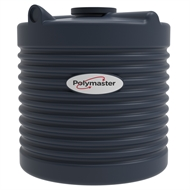 Polymaster 600L Round Corrugated Poly Water Tank - Mountain Blue