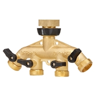 Pope 4 Way Brass Tap Adaptor Outlet