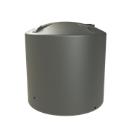 Melro 8000L Poly Round Water Tank - Earthtone