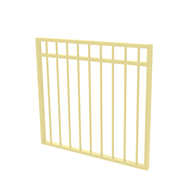 Protector Aluminium 975 x 900mm Double Top Rail All Up Garden Gate - To Suit Gudgeon Hinges - Primrose