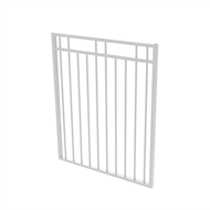 Protector Aluminium 975 x 1200mm Double Top Rail 2 Up 2 Down Gate - To Suit Gudgeon Hinges - Pearl White