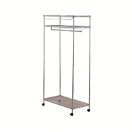 Pinnacle 1820 x 910 x 460mm Chrome Wire Mobile Wardrobe
