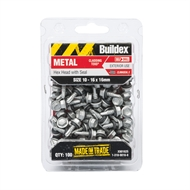 Buildex 10-16G x 16mm Climaseal Hex Head With Seal Cladding Tek Screws - 100 Pack
