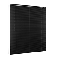 Zone Interiors 25mm 120 x 150cm Aluminium Matte Black Venetian Blind