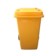 Handy 100L Yellow Wheelie Bin