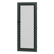 Protector Aluminium 808-848 x 2030-2070mm Adjustable Grille Security Door - Heritage Green