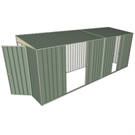 Build-a-Shed 1.5 x 5.2 x 2m Hinged Door Tunnel Shed with 3 Sliding Side Doors - Green